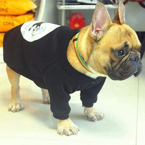 BAONUAN Ropa para Mascotas Engrosamiento De Algodón Cálido Chaqueta De Perro Pequeño Divertido Lindo Traje De