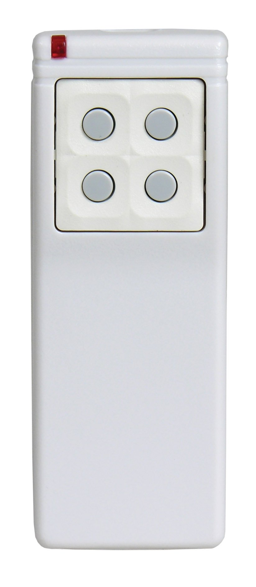 Linear DXS-25 Supervised 5-Button, 8-Channel Handheld Transmitter, White with Green Buttons