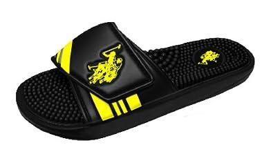 a67bef25b2df U.S. Polo Assn. Men s Premium Adjustable Upper Slide Sandal Flip Flop