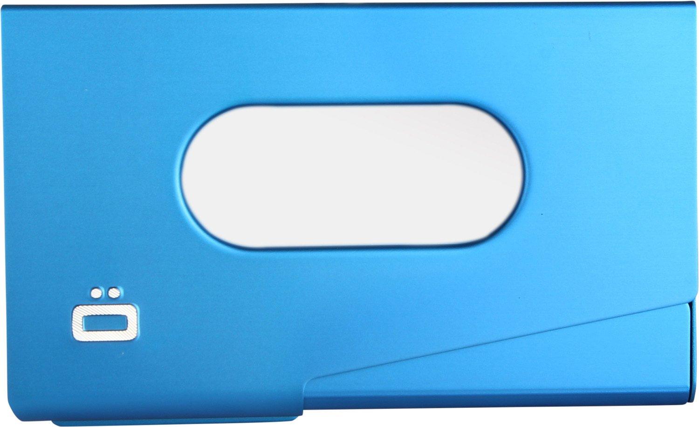 Ögon Design One-Touch Aluminium-Kartenetui blau Ögon Designs OT