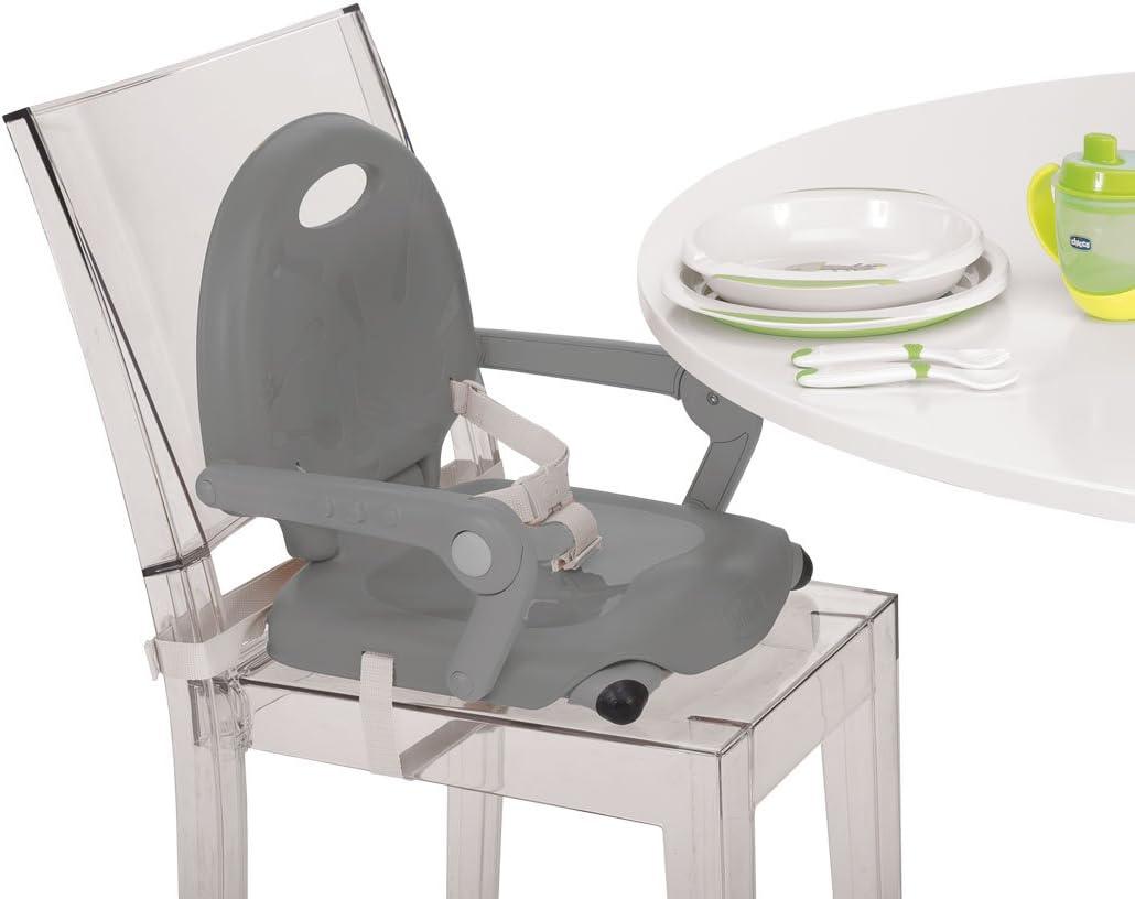 color/gris Chicco Pocket Snack Elevador asiento de silla regulable en 3 alturas para beb/és ligero 2 kg Dark Grey