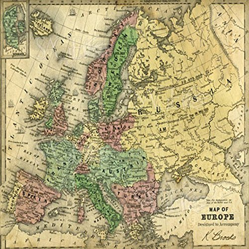 Map of Europe by Pied Piper World Print Poster