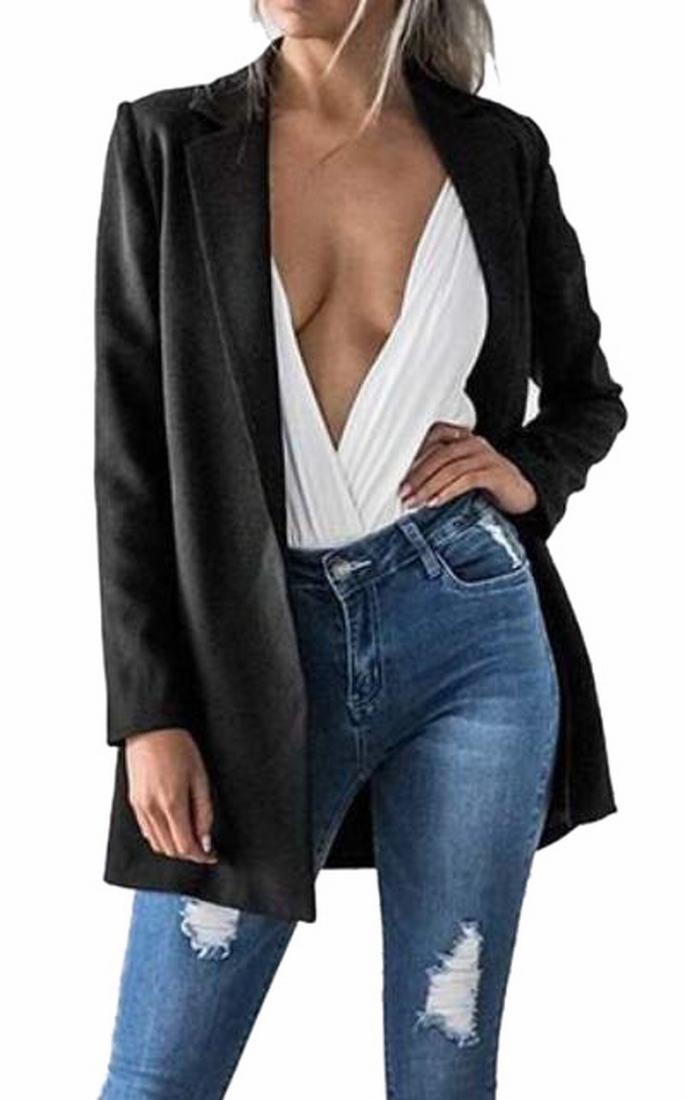 Generic Women Lapel Long Sleeve Blazer Outwear