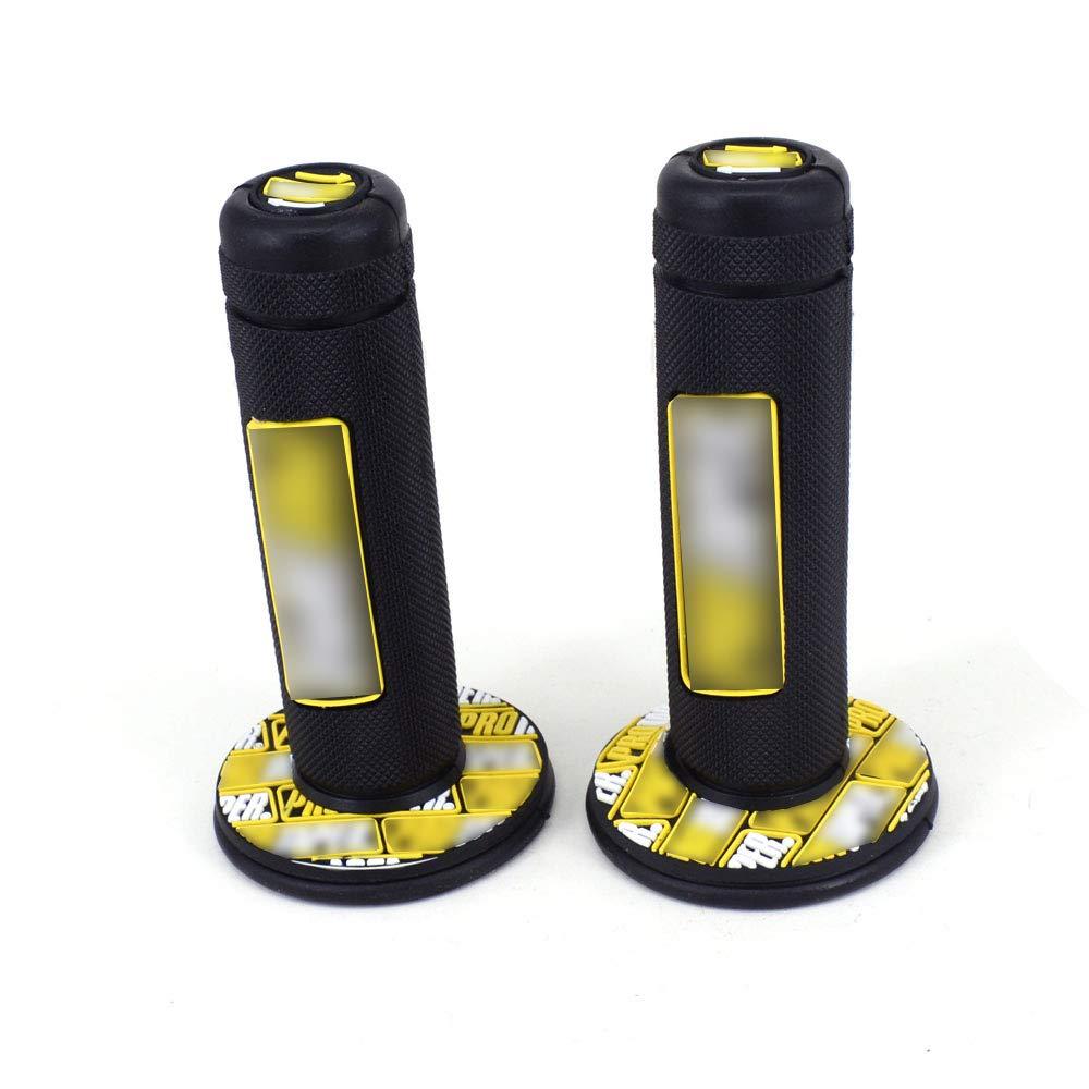 Yellow Dirt Bike Handlebar Grips 7//8 22mm For Suzuki RM85 RM125 Pit Bike Motorcycle Motocross Universal