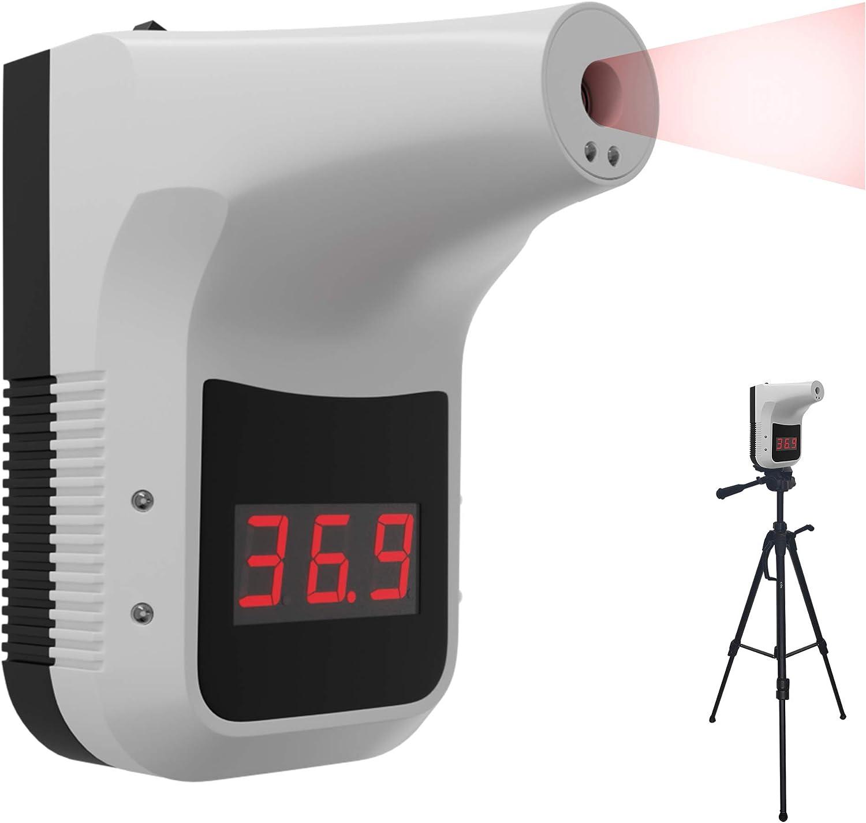 K3 Termómetro Infrarrojos de Pared Sin Contacto, Medidor de Fiebre de Personas con Alarma, Poste de Control de Temperatura Corporal Automático de Entrada Exterior o Interior