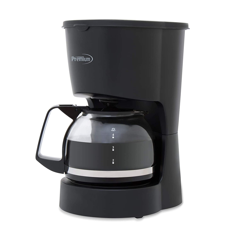 PREMIUM PCM5422B 4 Cup Coffee Maker, Black