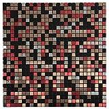Royllent, Aluminum Mosaic Tile, Peel & Stick, Backsplash, Accent Wall,Furniture Decoration,1 sq.ft. (Red Lips)
