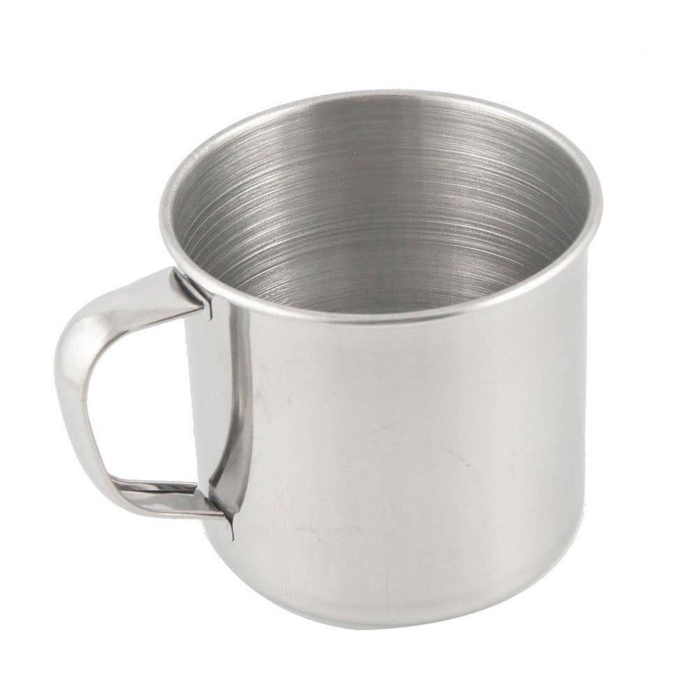 SODIAL (R) Tazza di caffe' dell'acciaio inossidabile tazza di te' per campeggio o viaggio 3.5 AEQW-WER-AW143654