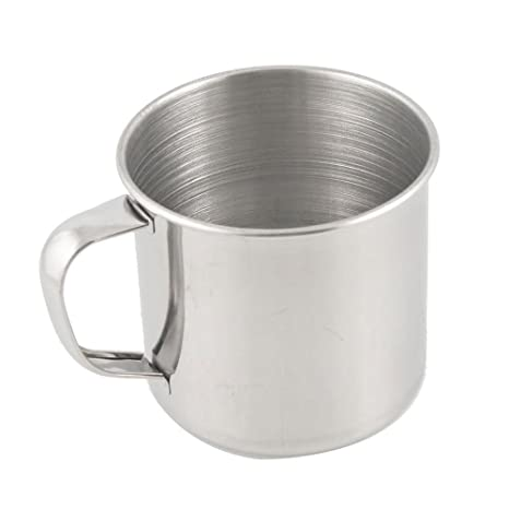 SODIAL(R) Stainless Steel Coffee Tea Mug Cup-Camping/Travel-3.5