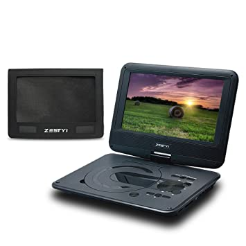 zestyi 9 portable dvd player for kids teens seniors with car headrest mount
