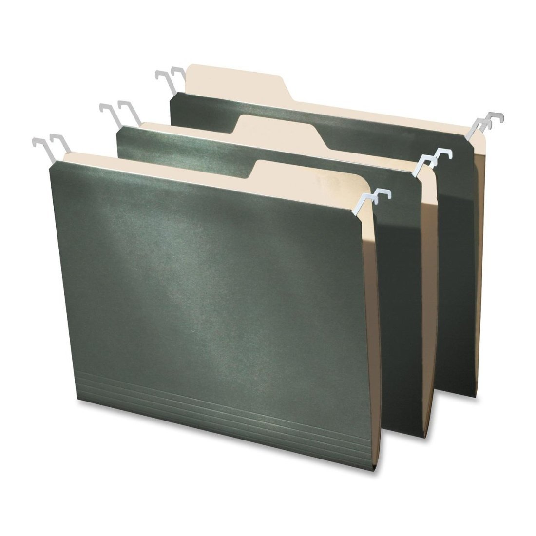 Find-It Hanging File Folders with Innovative Top Rail, 9 Point Stock, Letter Size (8.5 X 11-Inchs), 20 Per Pack, Green (intft05060)