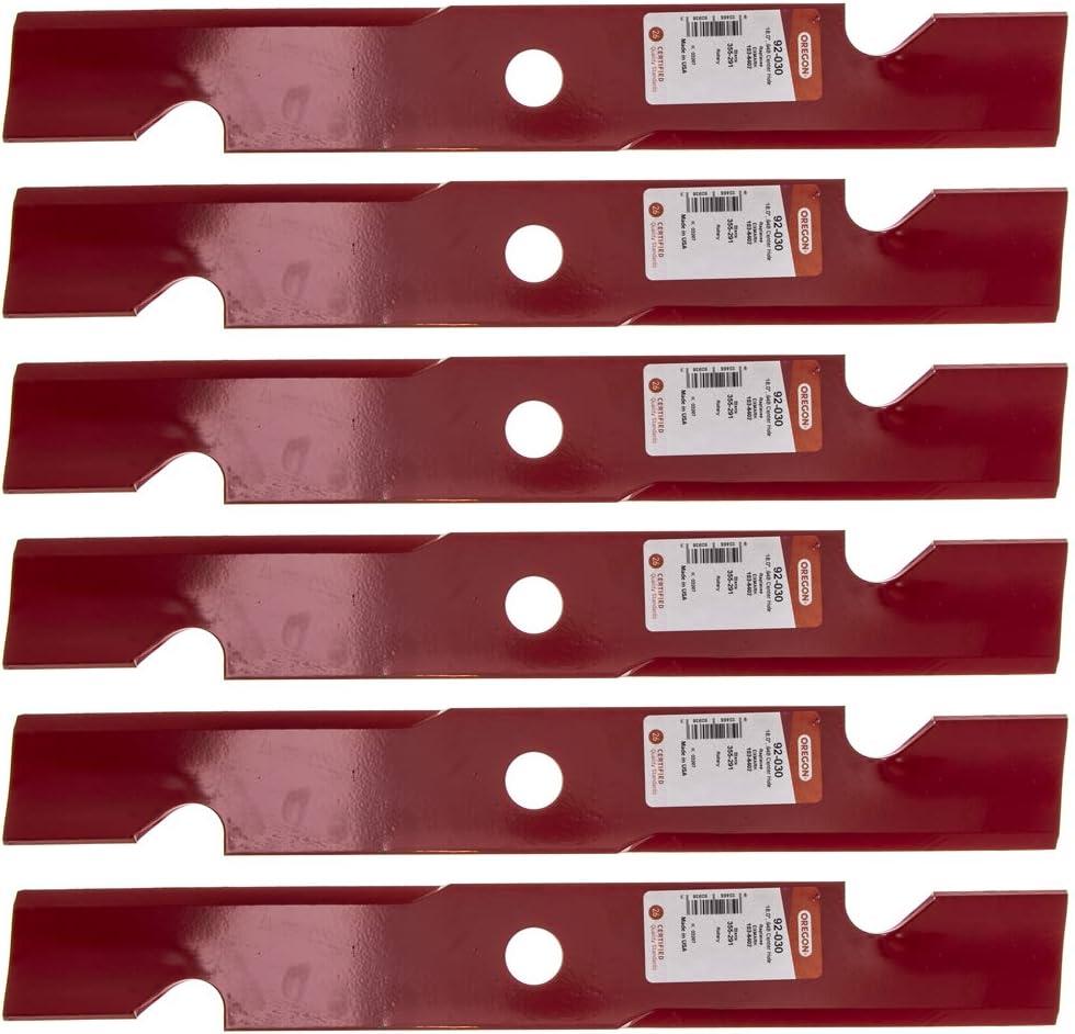 """Oregon 6 Pack 92-030 Mower Blade for Exmark 103-6402 52"""""""
