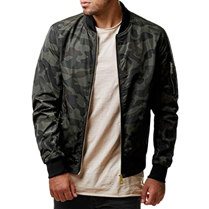 Mens Coat Charberry Casual Camouflage Jacket Top Autumn Winter