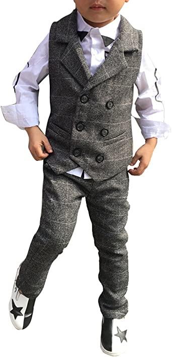 Boys gray vest pants tessie sanci investment executive responsibilities