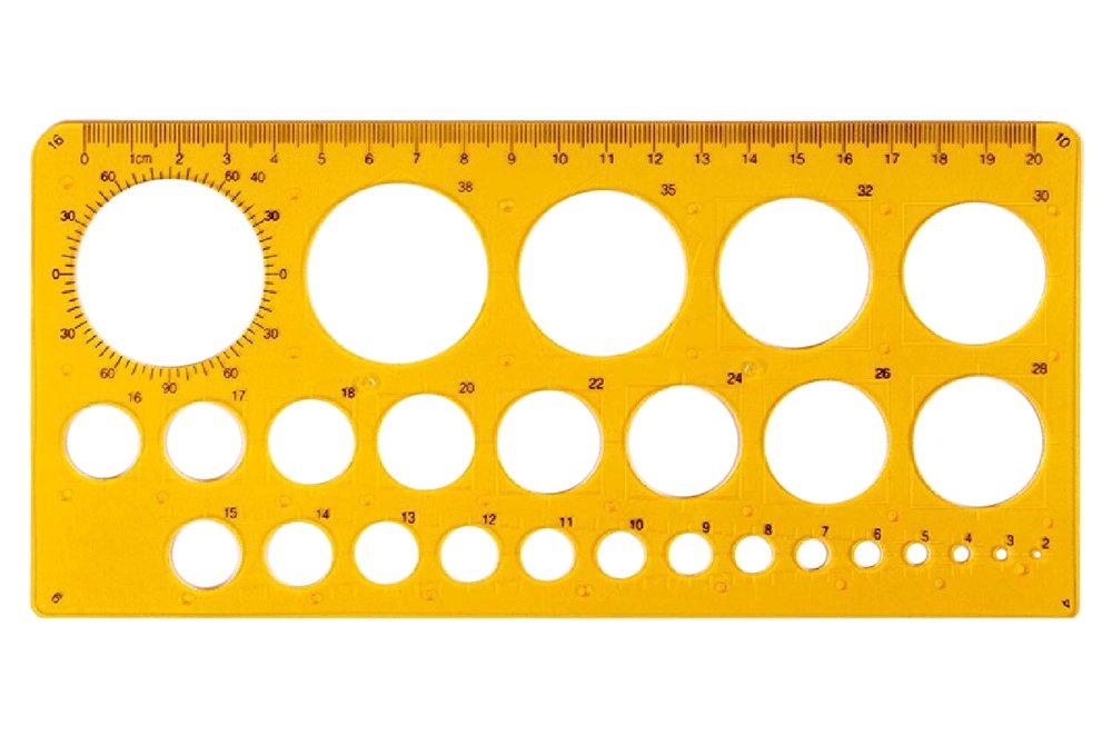 Rzdeal Cercle rond Pochoir Artiste Motif dessin Aid Outil diam/ètre de 2/mm /à 40/mm