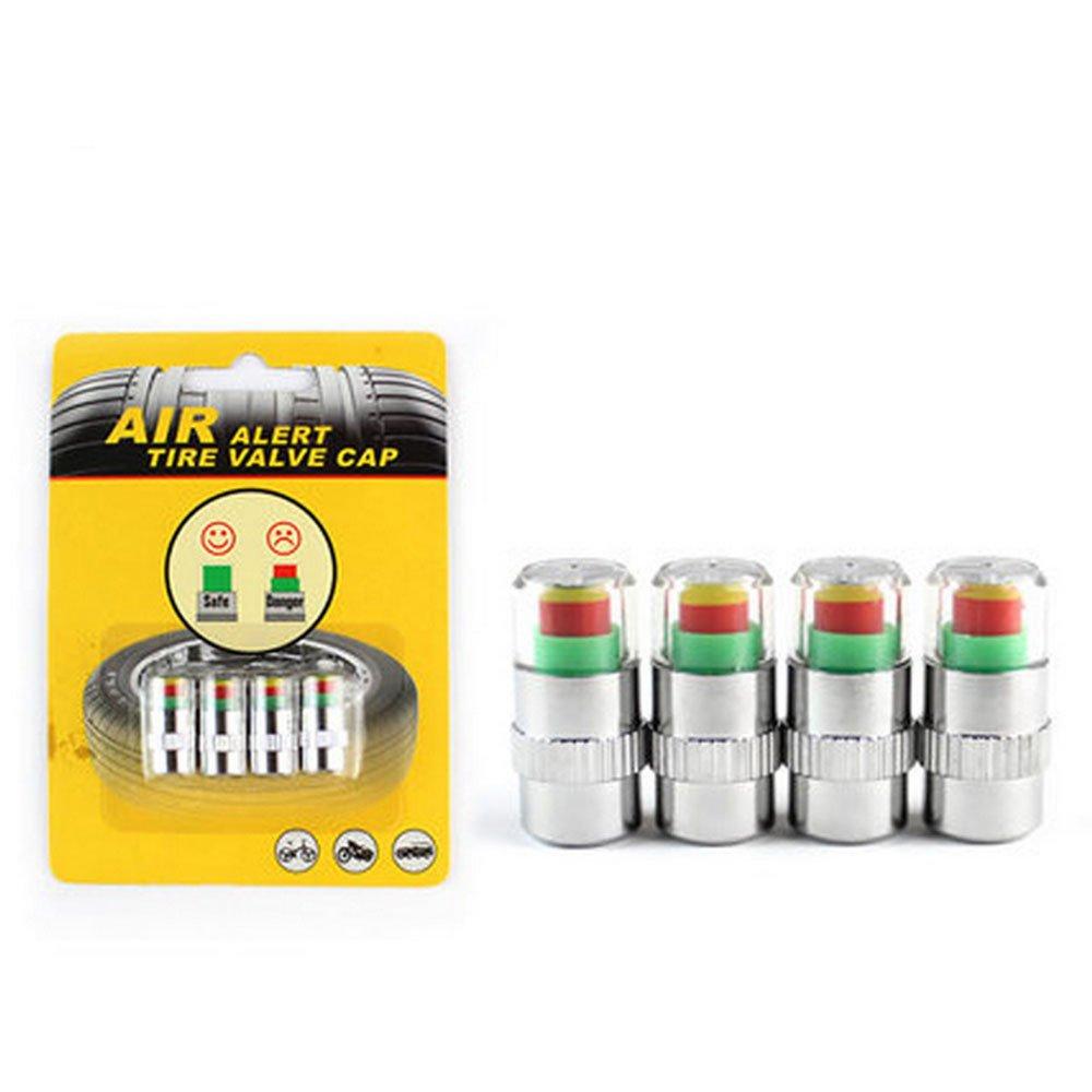 Daycount® 4 Pcs 2.4 Bar 35 PSI Auto Car Tire Pressure Monitor Valve Stem Caps Sensor Indicator Alert Diagnostic Tools Kits