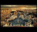 Vatican City Rome Modern Wall Art Decor Framed Canvas Prints Christian Art