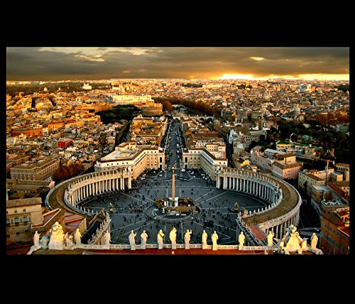 Vatican City Rome Modern Wall Art Decor Framed Canvas Prints Christian Art by Fengshui-paintings.com