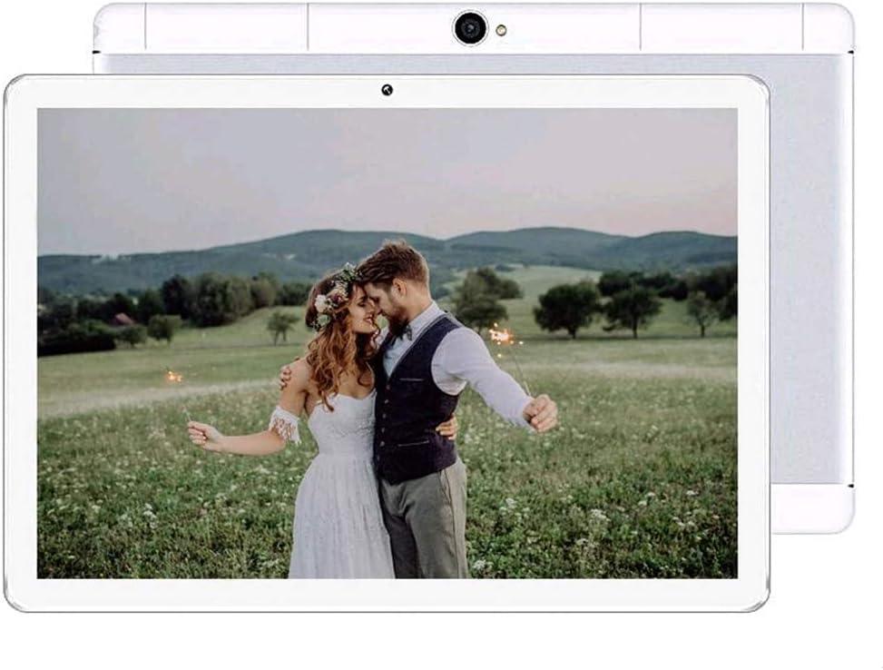 10 inch Android Tablet PC, 4GB RAM 64GB ROM, Octa -Core Processor, 5G-WiFi,Unlocked 3G Phone Call Dual SIM Cards GPS Bluetooth,M8 (Silver)