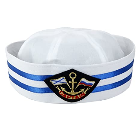 MagiDeal Yacht Capitano Della Barca Cappello Da Marinaio Tappo Marini  Partito Costume - Colore  3 a7efe3fbad54