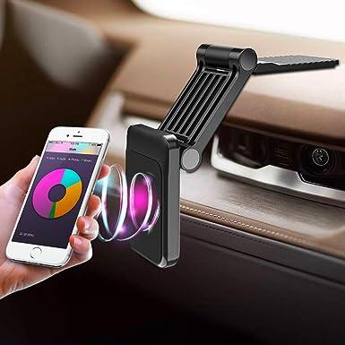 Soporte de Coche Plegable para teléfono móvil, Soporte magnético para el salpicadero del Coche, Soporte Universal para Smartphones para Todos los iPhone, Samsung y Otros teléfonos móviles: Amazon.es: Electrónica