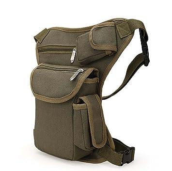 Bolsas De Cintura Ejército Bolso De Motocicleta Caída De Lona Pierna De Cintura Piloto Cintura Cinturón - Verde