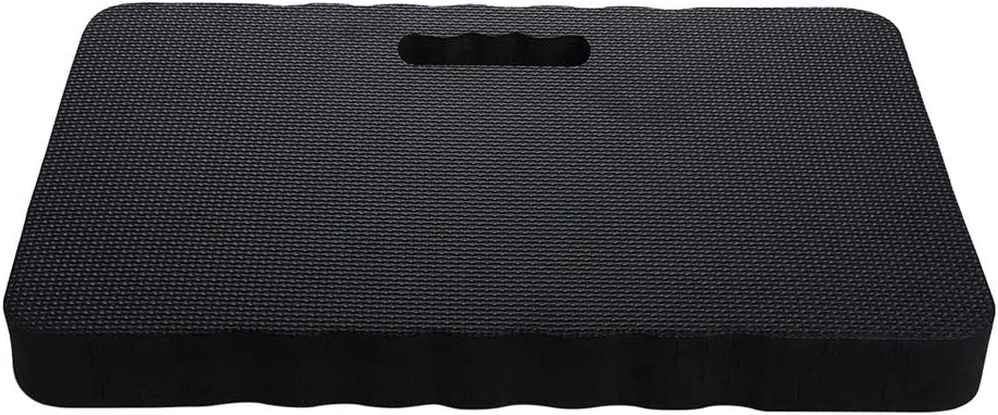 LQKYWNA Kneeling Pad Black Extra Thick Gardening Knee Pad High Density Floor Foam Kneeler Mat for Bathtub Yoga Construction Work Prayers Exercise 18 x 11 x 1.5