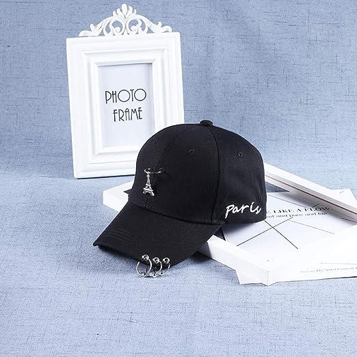 zlhcich Sombrero de Hombre con cinturón Gorra de béisbol de aro de ...