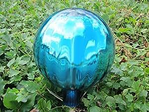 Precioso Cristal Bola Rose en turquesa aprox. 25cm de diámetro