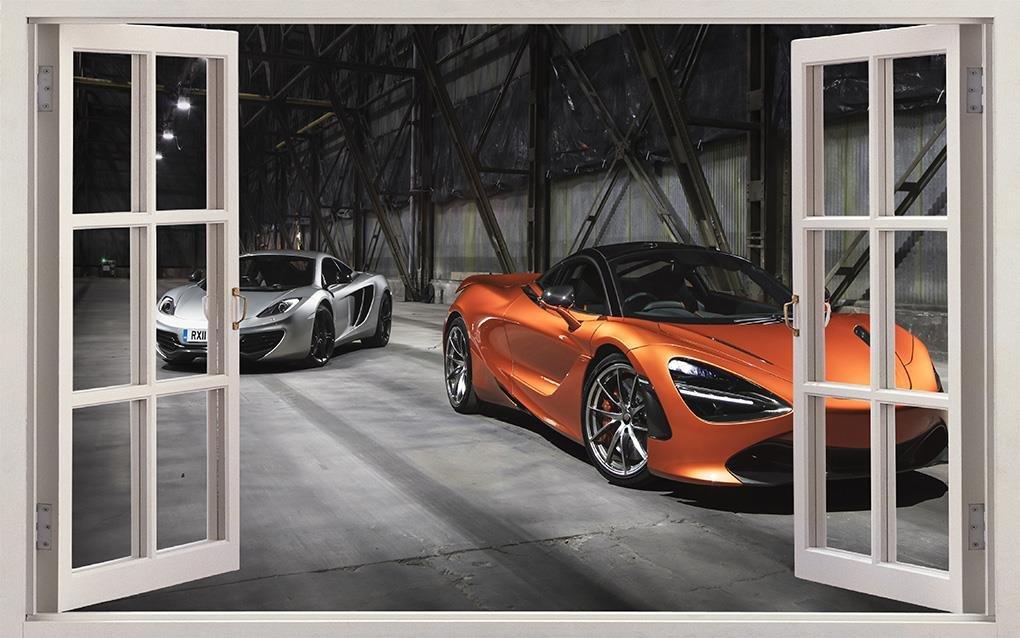 McLaren 720S Race Luxury Sports Car 3D Window Decal Wall Sticker Art Mural J1138, Huge
