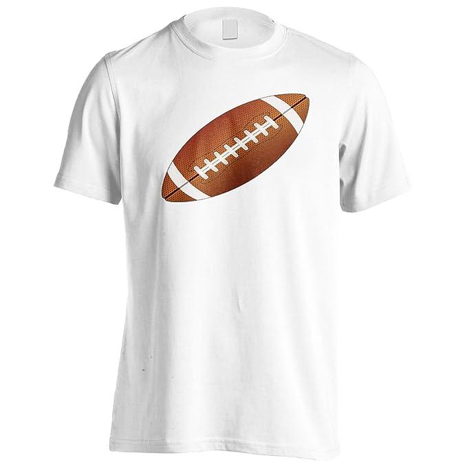 Fútbol americano en gris Camiseta de los hombres v479m
