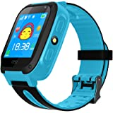 TDH Kids GPS Smartwatch, Anti-lost Smart Watch for Children Girls Boys Compatible for iPhone Android(Only Support T-Mobile) (Blue)