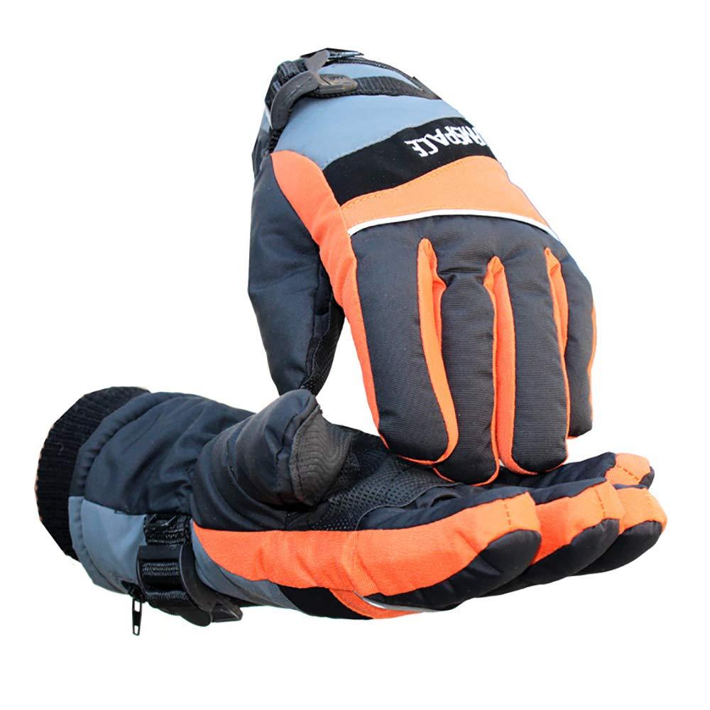 LBAFS Outdoor-Thermische Elektrische Heizung Handschuhe Handwärmer USB-Lade-Rutschfeste Wasserdicht Für Ski Radfahren Für Männer Und Frauen,Orange-M