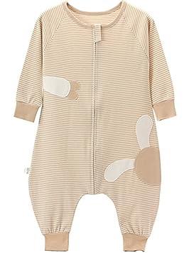 poliking Unisex algodón orgánico de verano para bebé con cremallera pijama Mono pijama bebé nightgowns,