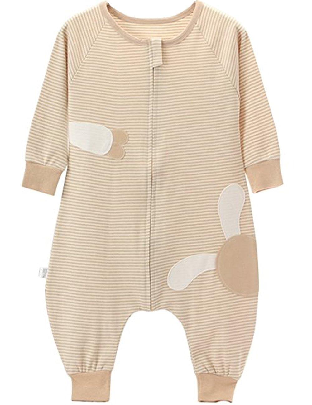 Poliking Unisex Baby Summer Pyjama en coton biologique à fermeture à glissière
