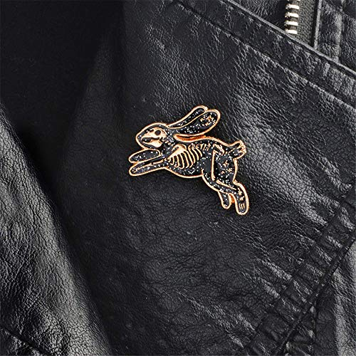 Xeminor Premium Skeleton Rabbit Enamel Pin Badges Brooches for Men Women Backpack Purse Hat Accessories by Xeminor (Image #1)