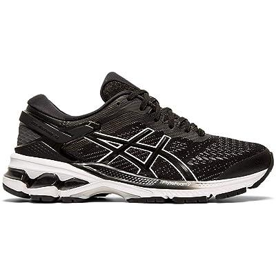 ASICS Women's Gel-Kayano 26 (D) Running Shoes, 8M, Black/White | Road Running