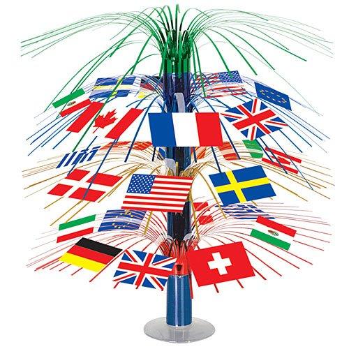 Beistle 50545 International Flag Cascade Centerpiece, 18