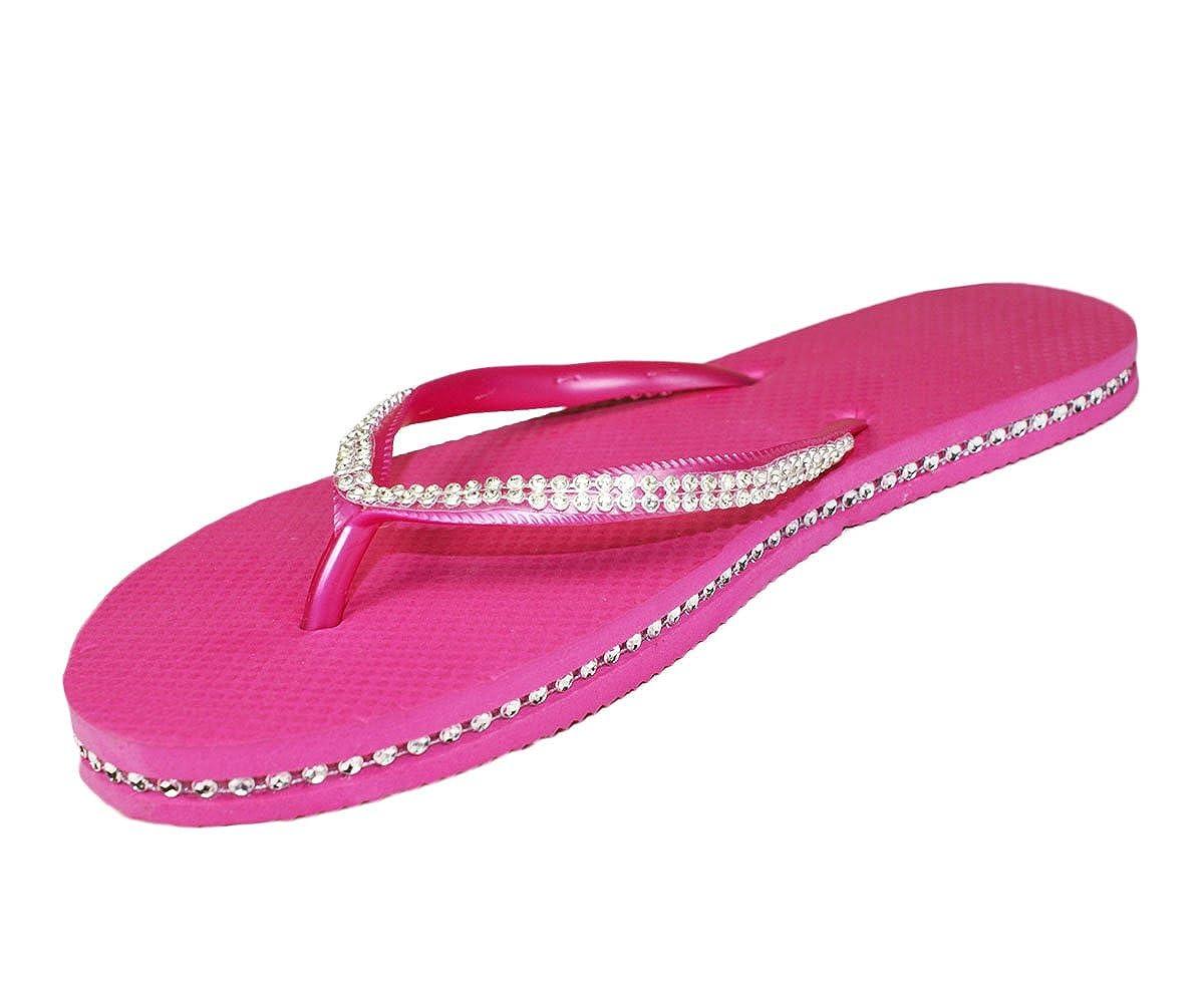 c6ae2ab108960 Sugar island ladies girls diamante flip flops sandals shoes bags jpg  1200x1000 Sugar flip flops