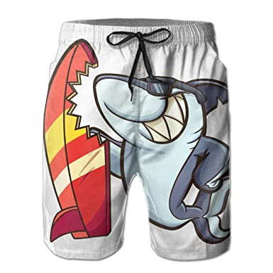 5c8860bbd89 Surf Shark Men s Boardshorts Summer Swim Trunks Qucik Dry Swimwear Slim Plus  Size M-2XL