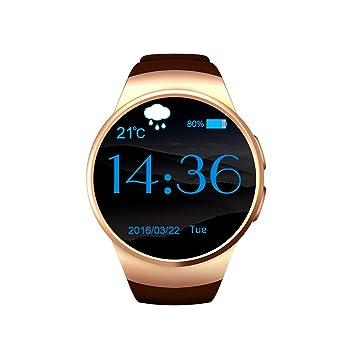 Teléfono móvil reloj, Actividad tracker, monitor de frecuencia cardíaca, compatible con iOS,