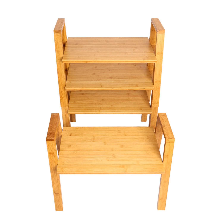 AllBombuu Bamboo DIY Storage Shelves/Hooks Storage Shelves