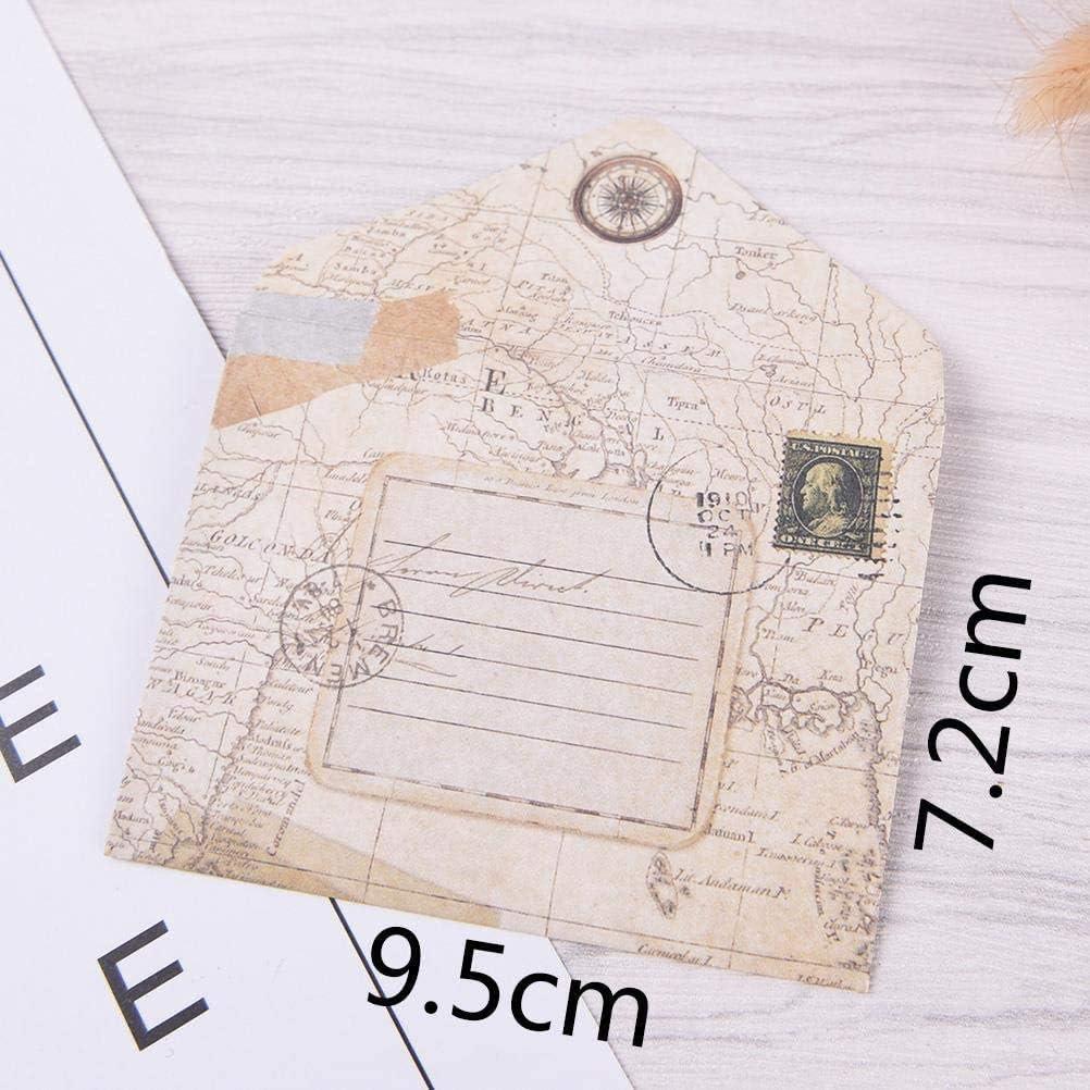120 Pcs Mini Enveloppe Vintage Enveloppes Vintage Cartes et Enveloppes pour No/ël//Action de Gr/âces//Mariage//F/ête danniversaire etc Enveloppe Carte Postale Petite Enveloppe Kraft