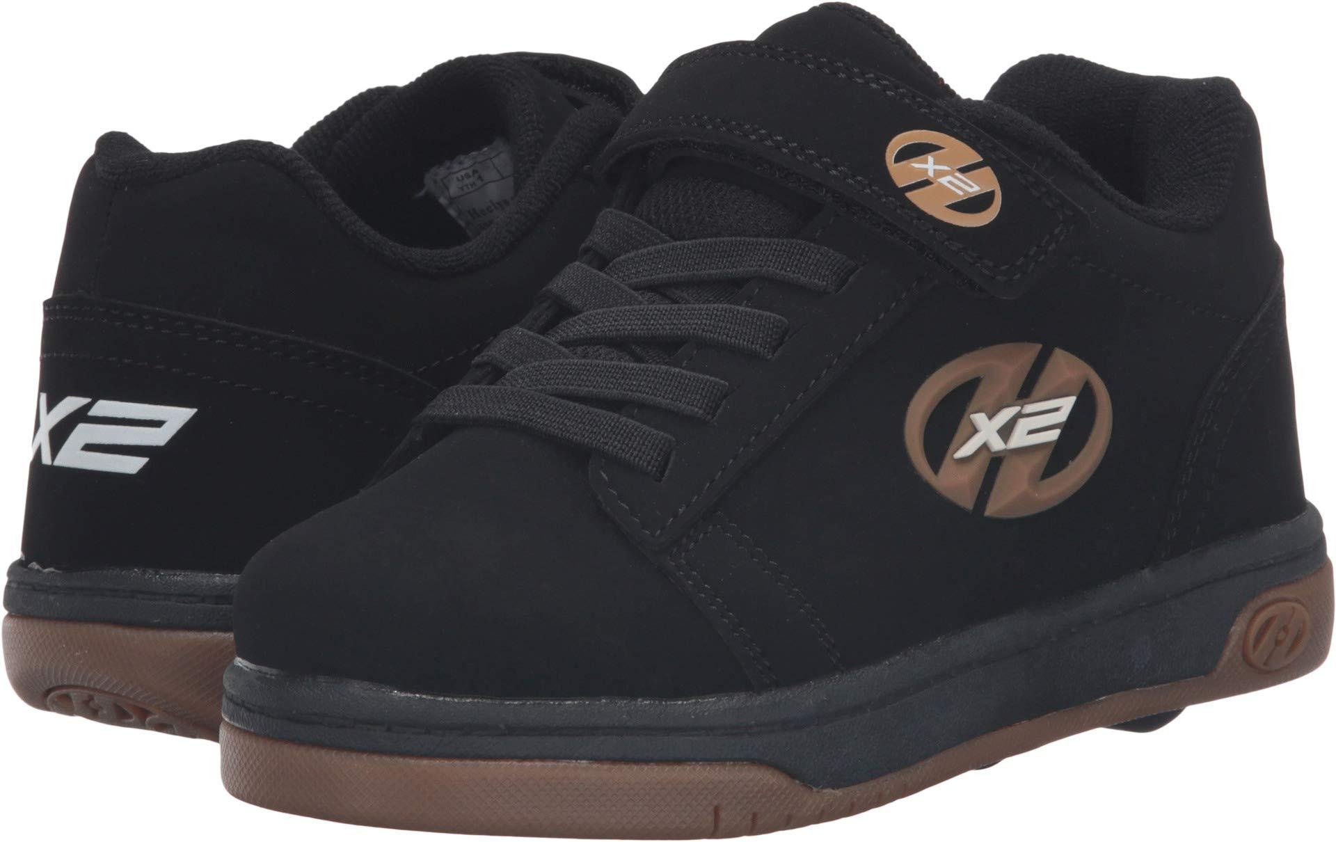 Heelys Dual Up X2 PU Sneaker Black-T, 1 M US Little Kid