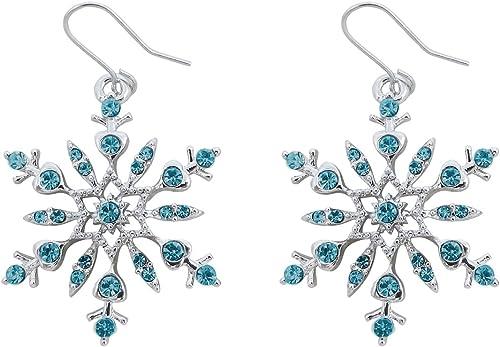 Plata esterlina Estrella Azul y Chrystal Pequeño Aretes