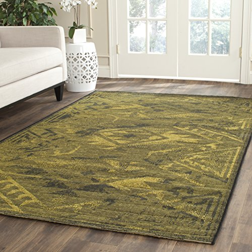 Safavieh Palazzo Collection PAL122-56C10 Black and Green Area Rug 5 x 8