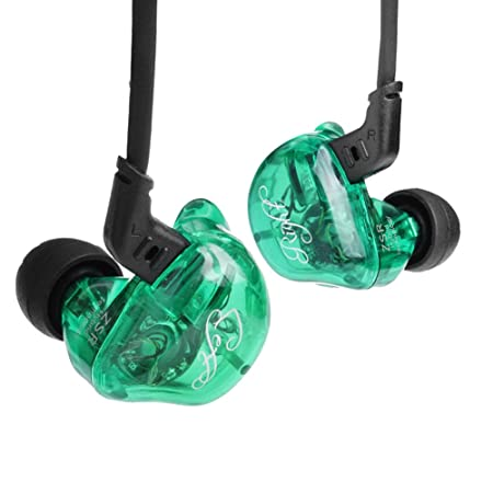 Review KZ ZSR In-Ear Headphones Earphone Hifi Stereo Deep Bass Earbuds with 0.75mm 2 Pins Detachable Cable Noise Isolating Headset with Hybrid Driver for Running, Jogging, Walking (Green without Mic)