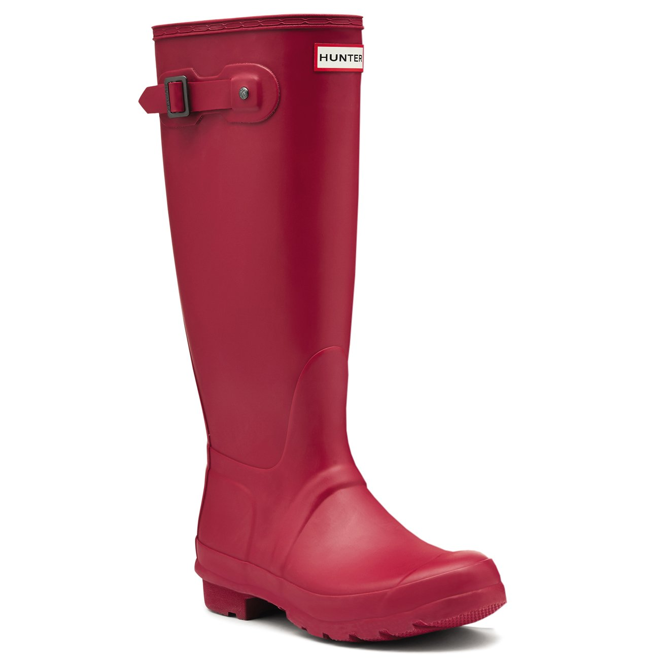 Hunter Womens Original Wide Fit Rainboots Waterproof Snow Wellingtons - Raspberry - 5
