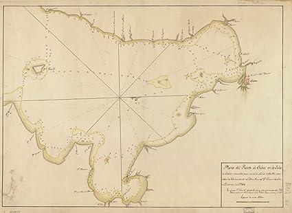 Amazon Com 1766 Map Of Philippines Subic Bay Plano Del Puerto De