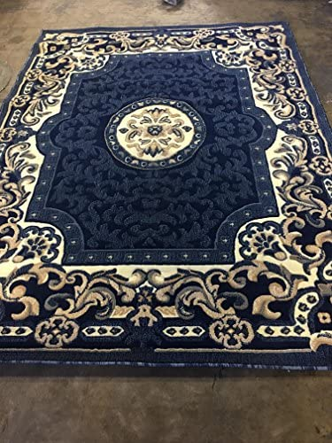 Carpet King Traditional Persian Area Rug Navy Blue Design 101 8 Feet X 10 Feet 6 Inch